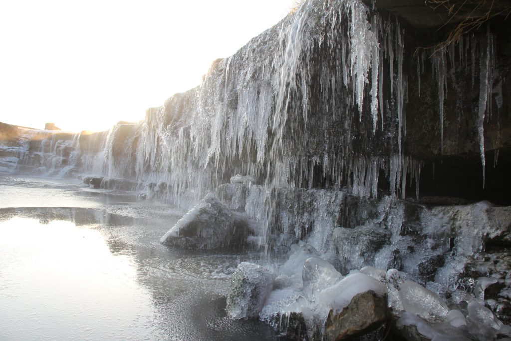 The Frozen water fall in Miki!!