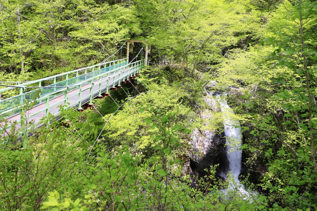 滝が見える橋
